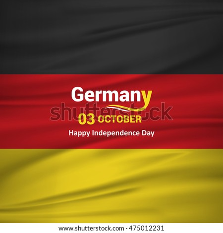 Abstract waving flag. 3rd October Germany Independence Day. Vector illustration
