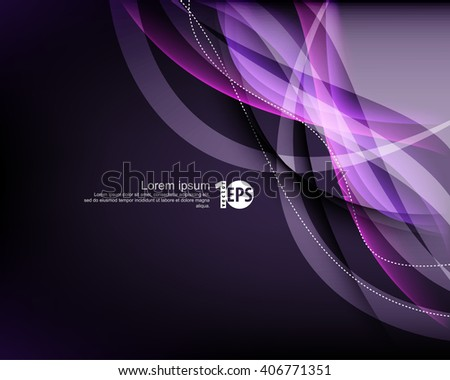 abstract waving transparent lines elegant material background, eps10 vector - stock vector