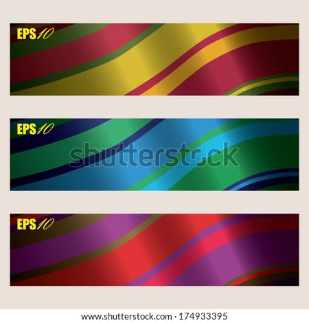 abstract wavy background banner