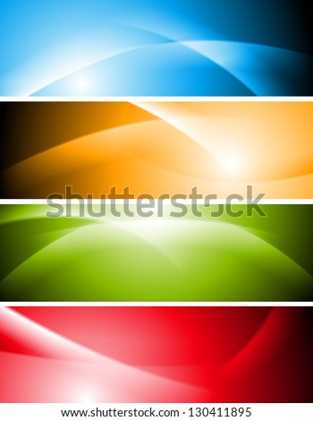 Abstract wavy colourful banners. Vector background eps 10 - stock vector