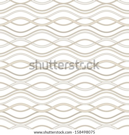 Abstract wavy lines, seamless pattern, vector background - stock vector