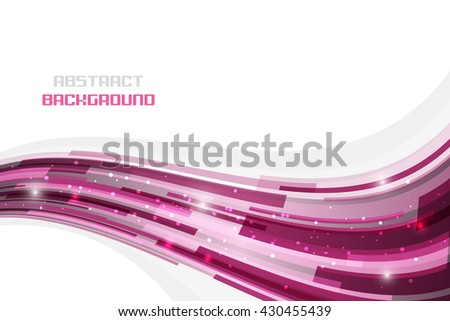 Abstract wavy pattern on a white background with glitter. Editable vector illustration. - stock vector