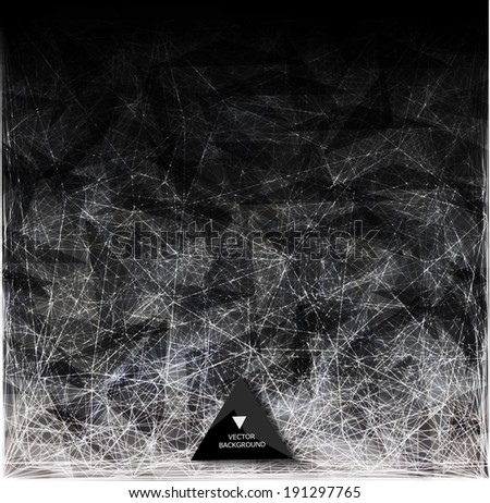 Abstract web bacground. Triangles background. Geometrical lines - stock vector