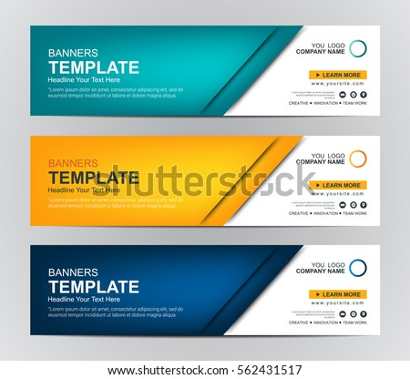 Abstract web banner design background header stock vector abstract web banner design background or header templates pronofoot35fo Choice Image