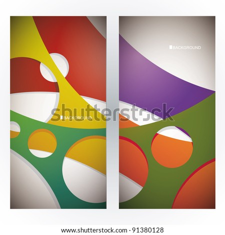 Abstract web banners - stock vector