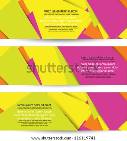 abstract web banners/headers - stock vector