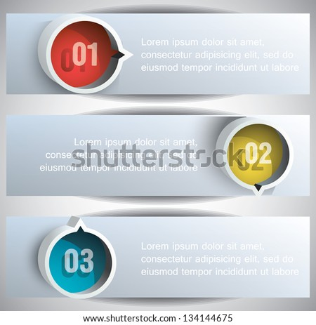 Abstract Web Banners with round blocks. Eps10 .Image contain transparency and various blending modes - stock vector