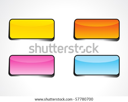 abstract web button  with diff rents colors vector illustration - stock vector