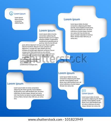 Abstract web design banner bubble. Vector illustration - stock vector