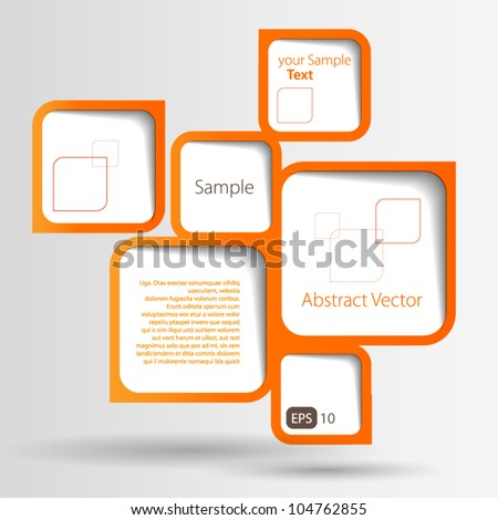 Abstract web design bubble - stock vector