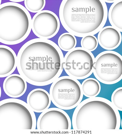 Abstract web design bubble with background. Modern, clean, Design template, can be used for info-graphics,banners, graphic or website layout vector - stock vector