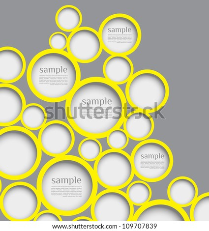 Abstract web design bubble with line background. can be used for website, info-graphics or banner - stock vector