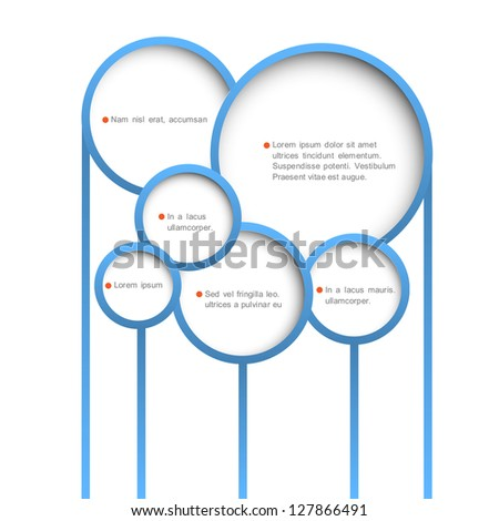 Abstract web design bubbles. Vector design template - stock vector