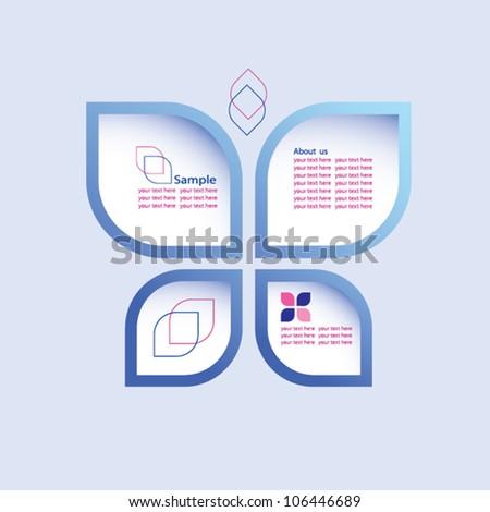 Abstract web design. EPS10 vector. - stock vector