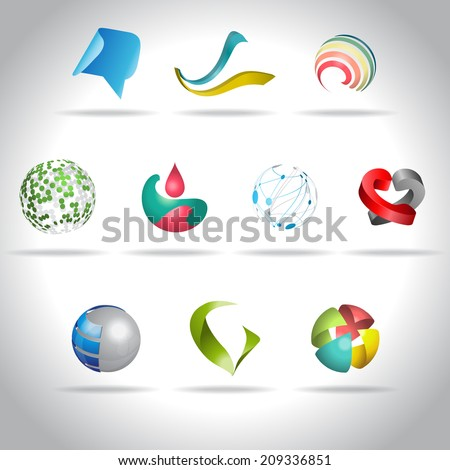 Abstract web Icons set