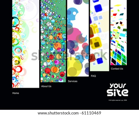 abstract web site design template, vector illustration. - stock vector