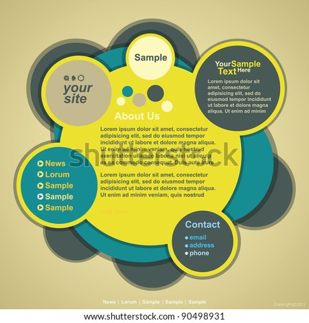 Abstract web site design, vector