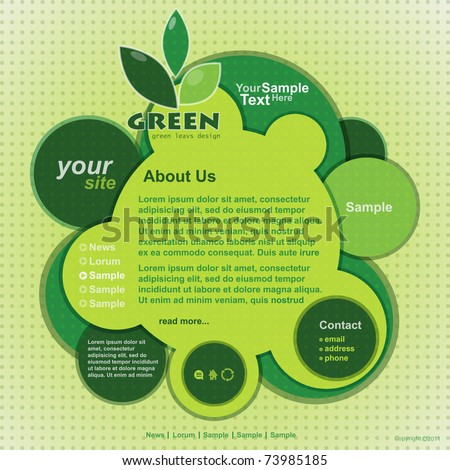 Abstract web site green design,vector template