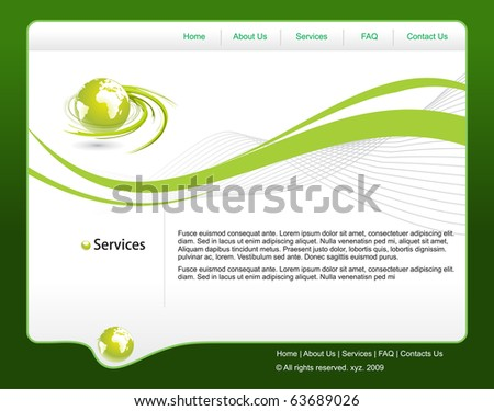 abstract web site template design, vector illustration.