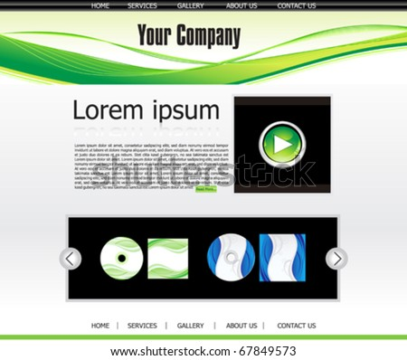 abstract web template vector illustration - stock vector