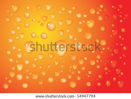 Abstract wet orange vector background - stock vector