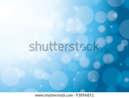 abstract white and blue background with bokeh - eps 10 - stock vector