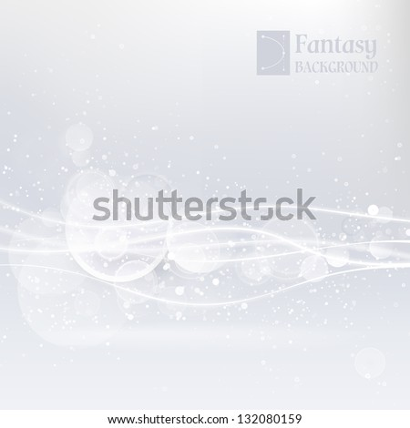 Abstract white background with smooth lines - stock vector