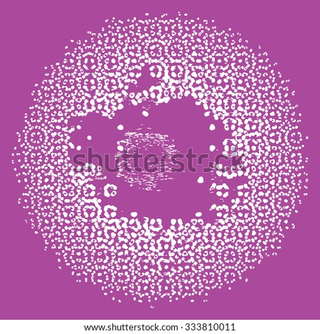 Abstract White Dotted. Violet Background.