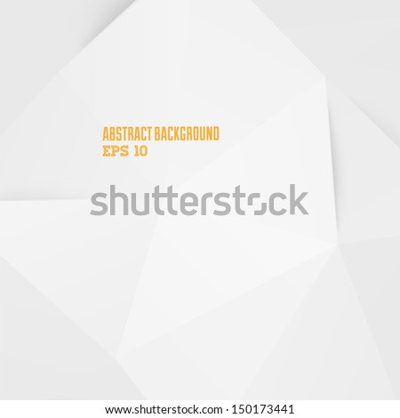 Abstract white geometric background for design - stock vector