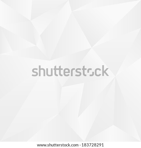 Abstract white geometric cubic background. Vector Illustration  - stock vector