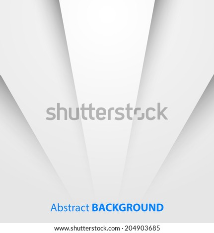 Abstract white paper background with shadow. Vector illustration  - stock vector