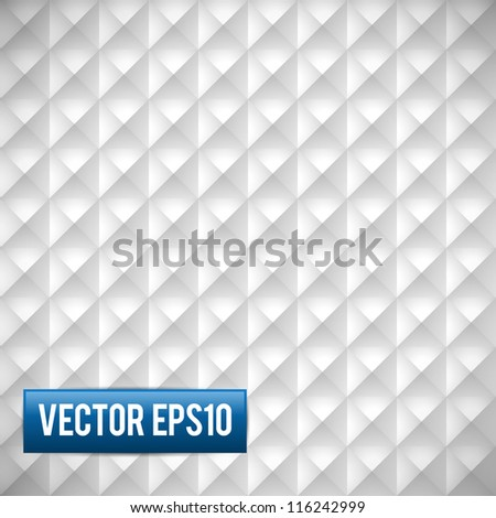 Abstract white Pyramid shape background - stock vector