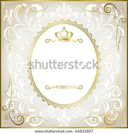 Abstract white romantic frame. Illustration vector. - stock vector