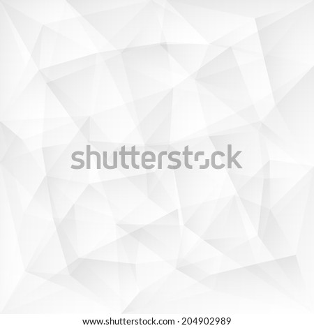 Abstract white triangle polygonal background. Vector illustration - stock vector
