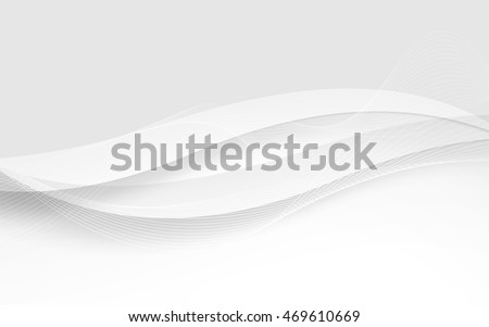 Abstract white waves. Vector Illustration. Clip-art