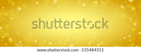 Abstract Wide Yellow Background with Blurred Shine Lights