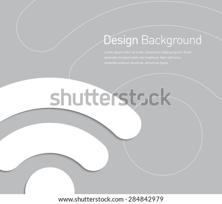 Abstract wifi symbol background for business design, technology, internet, network, lan, signal, wireless, advertisement. Flat design style - stock vector