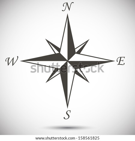 Abstract wind rose on white background. eps10 - stock vector