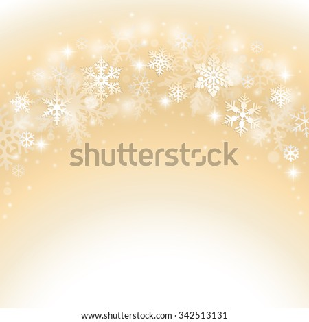 Abstract winter christmas background with snowflake - stock vector