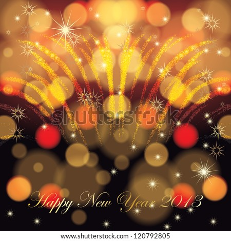 Abstract winter Christmas New Year background - stock vector