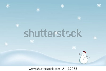 abstract winter illustration
