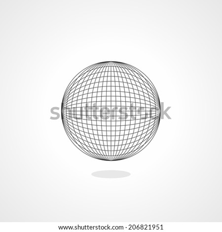 Abstract wireframe spheres - stock vector