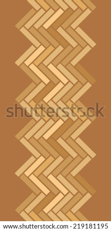 Abstract wooden floor panels vertical seamless pattern background - stock vector