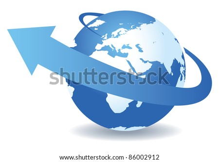 abstract world - stock vector