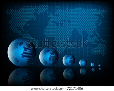 Abstract world background
