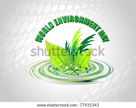 Abstract world environment day concept background illustration