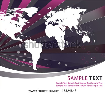 Abstract world globe illustration vector design