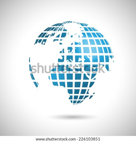 Abstract world illustration, vector - stock vector
