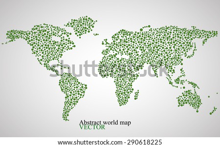 Abstract world map. Colorful background. Vector illustration. Eps 10