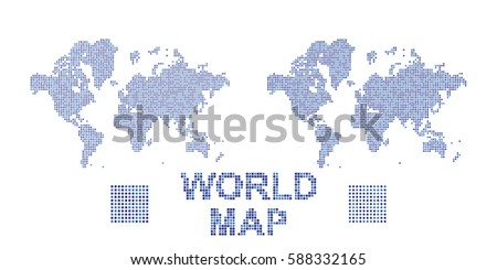 Abstract world map square dots flat stock vector 585431384 abstract world map in a round and square dots flat vector illustration eps 10 gumiabroncs Images